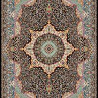 فرش ۱۰۰۰ شانه نقشه معجزه سرمه ای