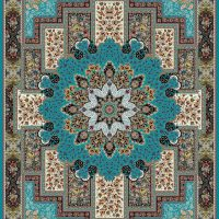 فرش ۱۲۰۰ شانه نقشه منوسا آبی