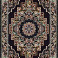 فرش ۱۰۰۰ شانه نقشه مهرنوش سرمه ای