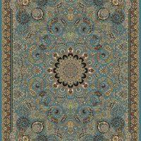 فرش ۷۰۰ شانه نقشه میترا آبی