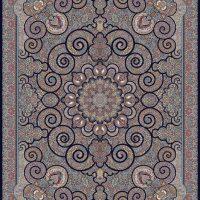 فرش ۱۰۰۰ شانه نقشه میترا سرمه ای
