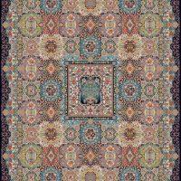 فرش ۱۰۰۰ شانه نقشه نازنین سرمه ای