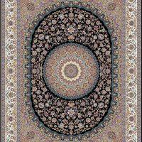فرش ۱۲۰۰ شانه نقشه نایین سرمه ای