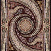 فرش ۱۰۰۰ شانه نقشه کهکشان سرمه ای ۱