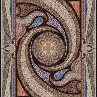 فرش ۱۰۰۰ شانه نقشه کهکشان سرمه ای ۲