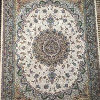 فرش ۱۲۰۰ شانه کد ۹۰۲۲ کرم حاشیه گردویی