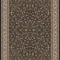 فرش ۱۰۰۰ شانه نقشه افشان گل مرغی حاشیه سرمه ای