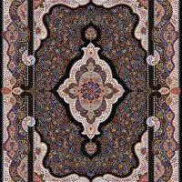 فرش ۱۰۰۰ شانه نقشه بهشت سرمه ای
