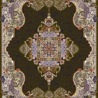 فرش ۱۰۰۰ شانه نقشه الی زیتونی