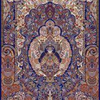فرش ۱۰۰۰ شانه نقشه گلدونی کاربنی