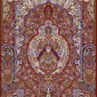 فرش ۱۰۰۰ شانه نقشه گلدونی روناسی