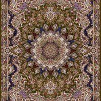 فرش ۱۰۰۰ شانه نقشه ماهور زیتونی