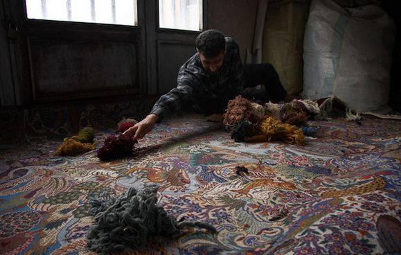 کارگاه آموزشی چله زنی و چله دوانی فرش دستباف در ایلام