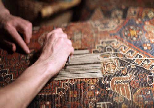 تاریخچه مرمت قالی
