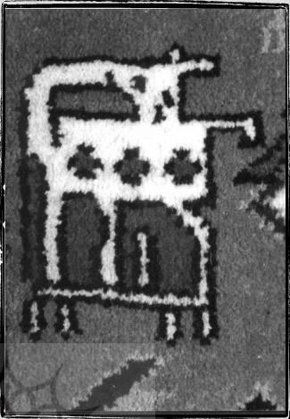 نقوش انتزاعی در طرح فرش های سنتی