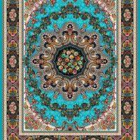 فرش برمودا ۱۰۰۰ شانه نقشه ایلیا آبی