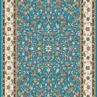 فرش ۷۰۰ شانه نگین مشهد هلال نقشه افشین چیتا آبی کد ۲۰۵۸