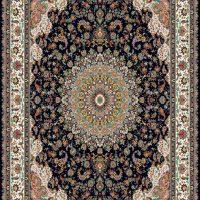 فرش ۷۰۰ شانه نگین مشهد هلال کد ۲۰۵۹ رنگ زمینه سرمه ای