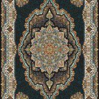 فرش ۷۰۰ شانه نگین مشهد هلال نقشه آرشین سرمه ای کد ۲۰۶۴