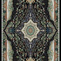 فرش ۷۰۰ شانه نگین مشهد هلال کد ۲۰۶۵ رنگ زمینه سرمه ای