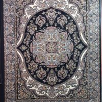 فرش ۷۰۰ شانه نگین مشهد هلال کد ۲۰۸۹ رنگ زمینه سرمه ای