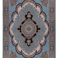 فرش ماشینی ۷۰۰ شانه آدینا نقشه آرشیدا زمینه آبی