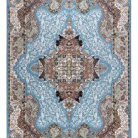 فرش ماشینی ۷۰۰ شانه آدینا نقشه الی زمینه آبی
