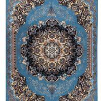 فرش ماشینی ۷۰۰ شانه آدینا نقشه راش زمینه آبی