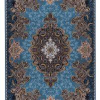 فرش ماشینی ۷۰۰ شانه آدینا نقشه شهرزاد زمینه آبی