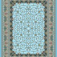 فرش گل برجسته ۱۲۰۰ شانه کد ۳۰۰۱ زمینه آبی