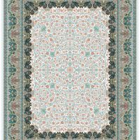 فرش گل برجسته ۱۲۰۰ شانه کد ۳۰۰۱ زمینه کرم