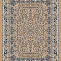 فرش گل برجسته ۱۲۰۰ شانه کد ۳۰۰۱ زمینه نسکافه ای