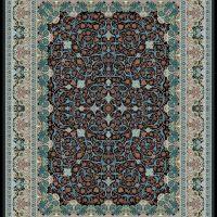 فرش گل برجسته ۱۲۰۰ شانه کد ۳۰۰۱ زمینه سرمه ای