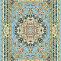 فرش گل برجسته ۱۲۰۰ شانه کد ۳۰۰۲ زمینه آبی
