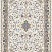فرش گل برجسته ۱۲۰۰ شانه کد ۳۰۰۳ زمینه کرم