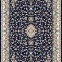 فرش گل برجسته ۱۲۰۰ شانه کد ۳۰۰۳ زمینه سرمه ای