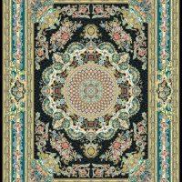 فرش گل برجسته ۱۲۰۰ شانه کد ۳۰۰۴ زمینه سرمه ای