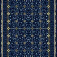 فرش گل برجسته ۱۲۰۰ شانه کد ۳۰۰۵ زمینه سرمه ای