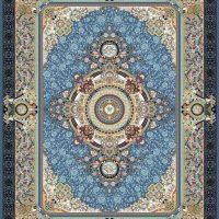 فرش گل برجسته ۱۲۰۰ شانه کد ۳۰۰۶ زمینه کاربنی