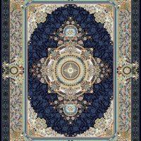 فرش گل برجسته ۱۲۰۰ شانه کد ۳۰۰۶ زمینه سرمه ای