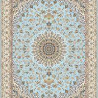 فرش گل برجسته ۱۲۰۰ شانه کد ۳۰۰۷ زمینه آبی