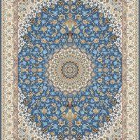 فرش گل برجسته ۱۲۰۰ شانه کد ۳۰۰۷ زمینه کاربنی