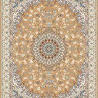فرش گل برجسته ۱۲۰۰ شانه کد ۳۰۰۷ زمینه نسکافه ای