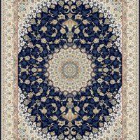 فرش گل برجسته ۱۲۰۰ شانه کد ۳۰۰۷ زمینه سرمه ای
