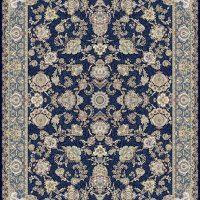 فرش گل برجسته ۱۲۰۰ شانه کد ۳۰۰۹ زمینه سرمه ای