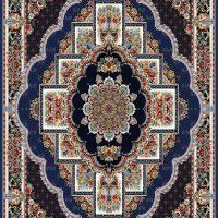 فرش ۷۰۰ شانه نقشه بهشت زمینه کاربنی