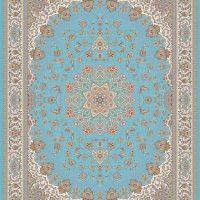 فرش ۱۲۰۰ شانه نقشه الینا زمینه آبی