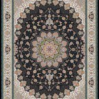فرش ۱۲۰۰ شانه نقشه الینا زمینه سرمه ای