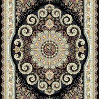 فرش ۱۲۰۰ شانه نقشه ترانه زمینه سرمه ای