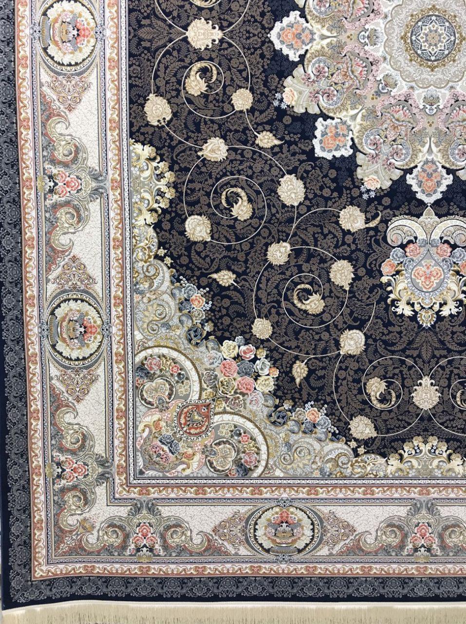 فرش زمینه سرمه ای 1500 شانه